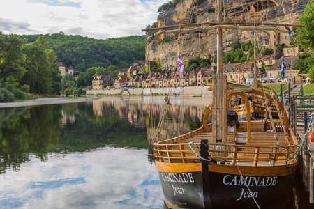 La Roque-Gageac, Dordogne, France - Canoeing on the river Dordogne at La Roque-Gageac. France