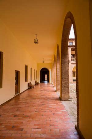 MEDINA DEL CAMPO, SPAIN: Castillo de la Mota interior, the Castle of Medina del Campo, in Valladolid, Leon. Spain 에디토리얼