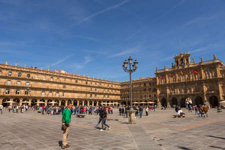 SALAMANCA, SPAIN: Plaza Mayor, the most important square and the heart of Salamanca. Spain