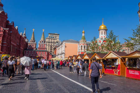 MOSCOW, RUSSIA: Historical buildings at the Red Square. Moscow, Russia 에디토리얼