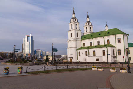 Minsk, Belarus: NemigaTrinity Suburb. Winter time in the cathedral of Holy Spirit.