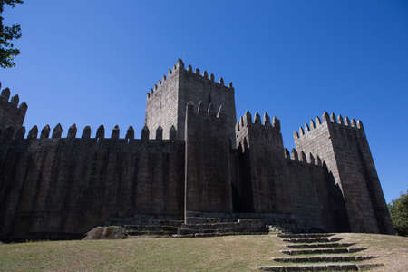 The Castle of Guimaraes is the principal medieval castle in Portugal. Guimaraes, Portugal