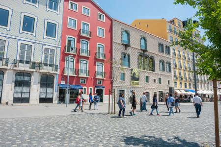 LISBON, PORTUGAL: Exterior view of Casa dos Bicos, home of Jose Saramago Foundation.