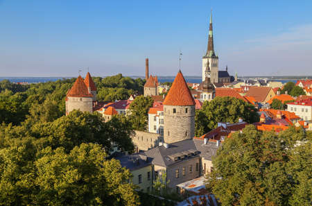 Tallinn, Estonia.Top view of the old town in the summer Stock fotó