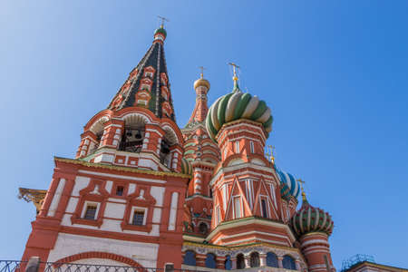 Detail of St. Basil's Cathedral in Moscow, Russia