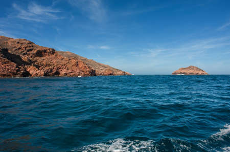 View of Berlenga island from the sea, Portugal