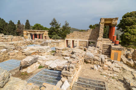Minoan Palace of Knossos in Heraklion. Crete, Greece, Europe
