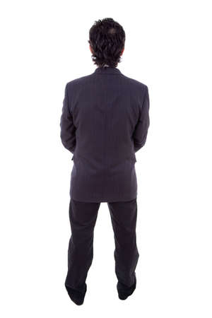 Back view of a business man, isolated