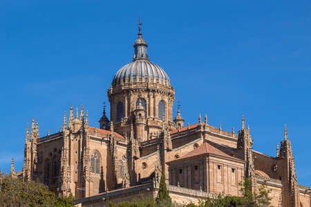 New Cathedral (Cathedral Nueva) dome in the old city of Salamanca, a UNESCO world heritage site. Spain