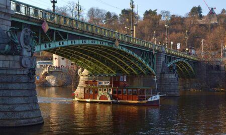 vltava: Bridge over the Vltava River viewed from below