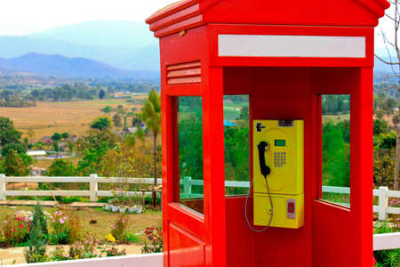 phonebooth: telephonebox in the country