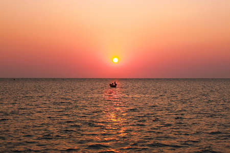 fishing boat in the sea of Thailand photo