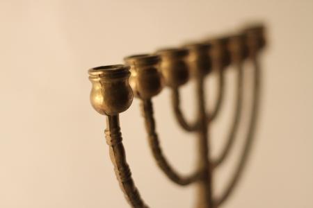 brass menorah Stock Photo - 8330663