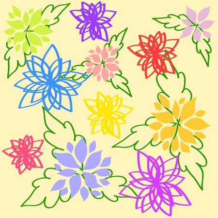 Floral background pattern Stock Vector - 9244062