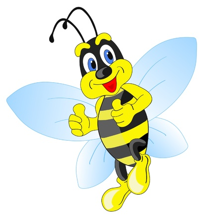 abeja caricatura: abeja de dibujos animados
