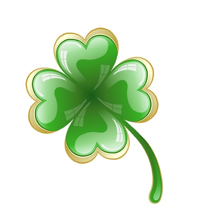 four objects: Four leaf clover, vector illustration for St. Patricks day Illustration