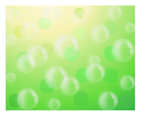 Beautiful nature spring background with bubble