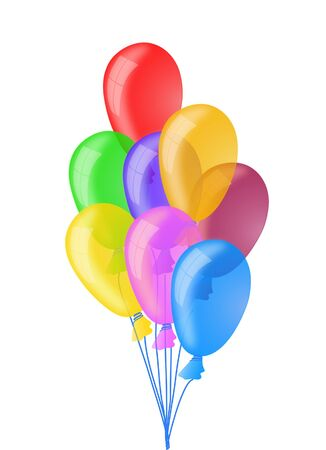 Colorful flying balloons eps10 Stock Vector - 9297970