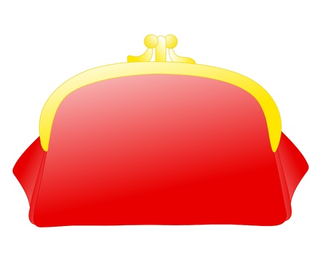 Red purse. Vector illustration