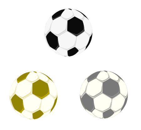 Soccer balls set. Vector illustration Stock Vector - 9336579