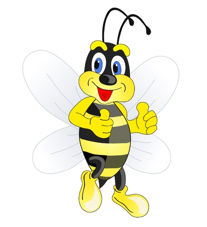 abeja caricatura: bee Funny cartoon