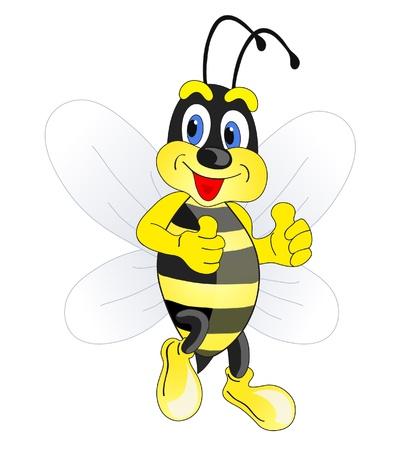 avispa: bee Funny cartoon