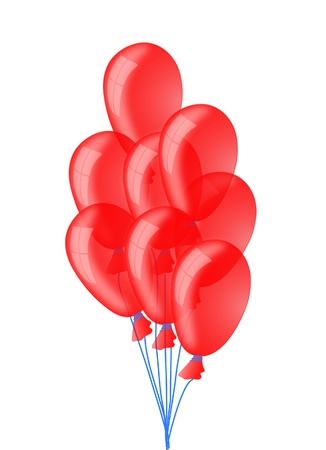 Red flying balloons Stock Vector - 10030289