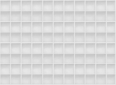 Abstract White Boxes Background. Seamless Background. Stock Photo