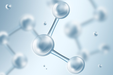 Science Background With Molecules