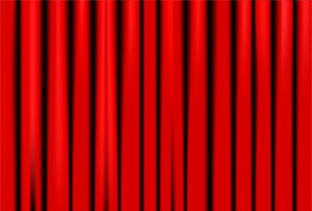 Red Curtain On Theater Or Cinema Stage. Vector Illustration Illustration