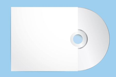 Blank Cd With Cover Template. Vector Illustration, eps 10 Çizim