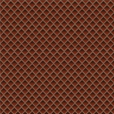 Chocolate Wafer Background. Vector Illustration Иллюстрация