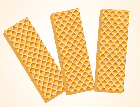 Three Vanilla Wafers. Vector Illustration  イラスト・ベクター素材