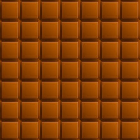 Milk chocolate seamless pattern. Vector Illustration