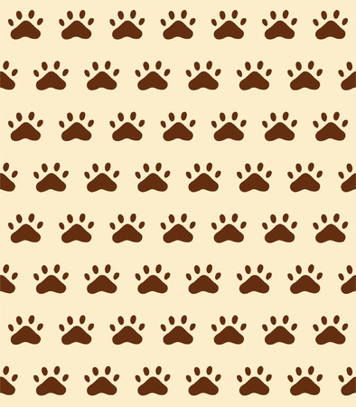 Seamless Pattern background of cat trace (track), vector illustration Illustration