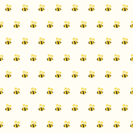 Funny bee seamless pattern background, vector illustration