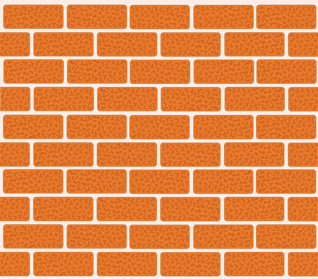 Brick wall of red bricks. Vector illustration for your design.