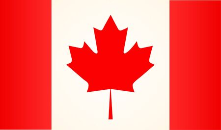 Flag of Canada Realistic, High Detailed. Vector Illustration.