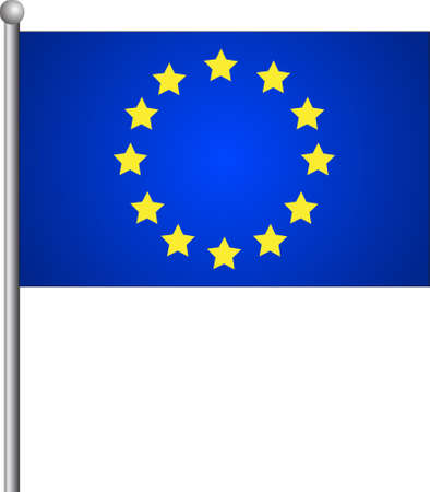 Flag of European Union With Correct Proportions. Vector Illustration
