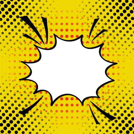 Cartoon, comic speech bubble in pop-art style, vector illustration for Comics Book , Social Media Banners, Promotional Material