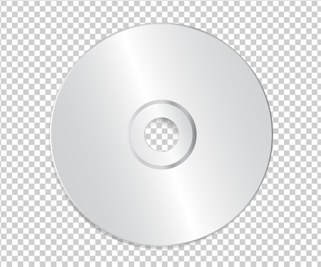 Blank CD template on transparent background sith shadow vector illustration. Illustration