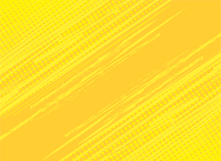 Yellow and orange background hatch with halftone effect. Vintage pop art retro comic vector illustration