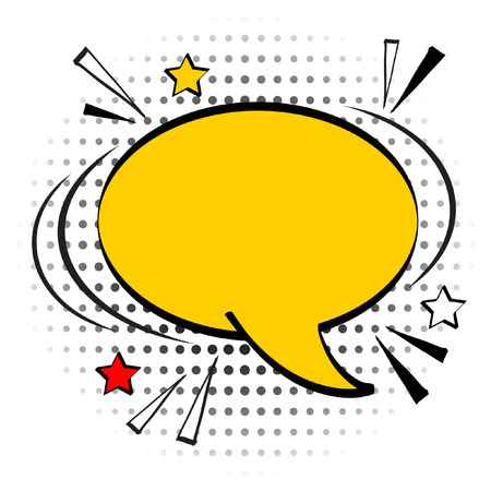 Cartoon, Comic Speech Bubbles, Empty Dialog Clouds with Halftone Dot Background in Pop Art Style. Vector Illustration for Comics Book , Social Media Banners, Promotional Material Illustration