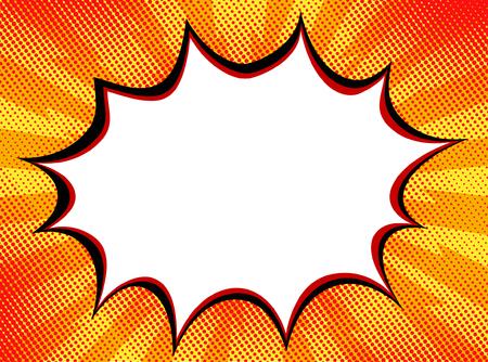 Explosion steam of a bubble pop art banner