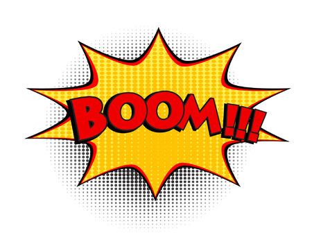 Boom comic word. Pop art retro style vector illustration, eps 10 Illustration