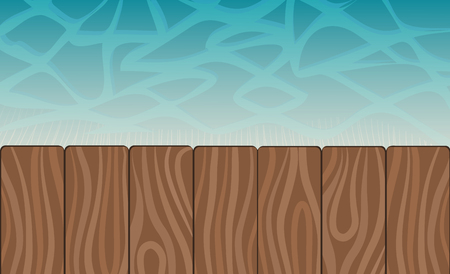 Zwembad en houten dek ideaal voor achtergronden, voorraad vectorillustratie