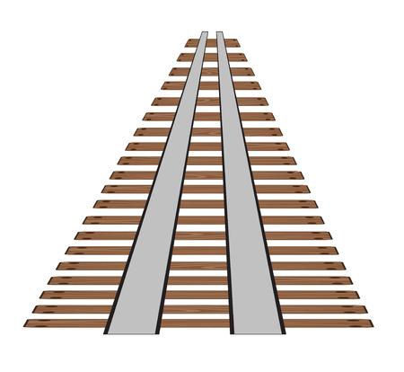 白い背景に鉄道線路や鉄道線路。直線レール要素ベクトルストックイラストの一部