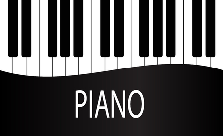 Black and White Piano Keys Background Design. Stock Vector Illustration, eps 10