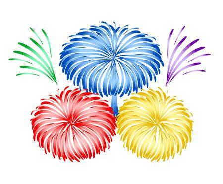 Bright holiday firework design, stock vector illustration Illustration
