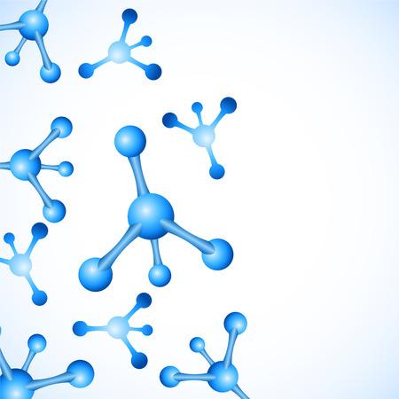 Abstract molecules design vector illustration Illustration
